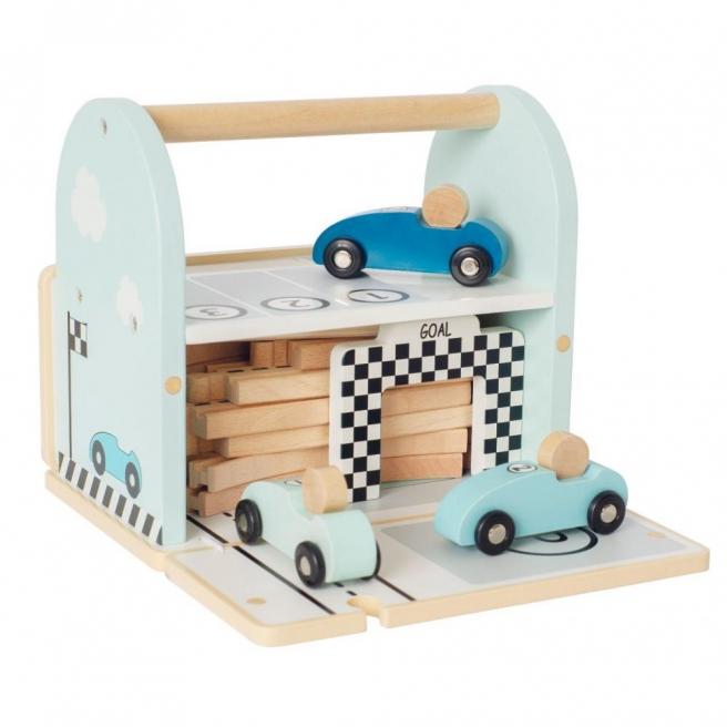 Drewniany tor wyścigowy z autami Jabadabado
