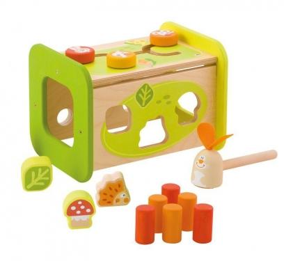 Multifunkcyjna drewniana zabawka edukacyjna