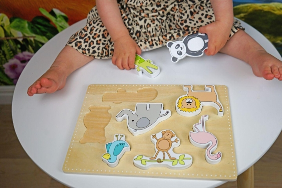 Drewniane puzzle safari Jabadabado