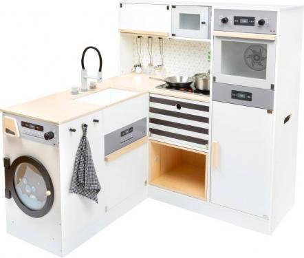 Drewniana kuchnia narożna z pralką i akcesoriami Small Foot Design