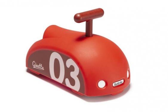 Czerwony jeździk Ginetta Mini Eolo Italtrike