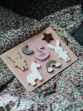 Drewniane puzzle jednorożec Jabadabado