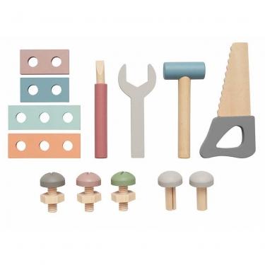 Drewniana skrzynia miś z narzędziami Jabadabado