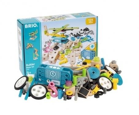 BRIO Builder Zestaw z Silniczkiem dla Małych Inżynierów 120 elementów