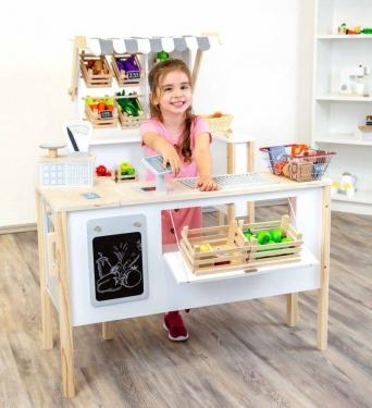 Drewniany sklep i kuchnia dla dzieci 2w1 Fresh Small Foot