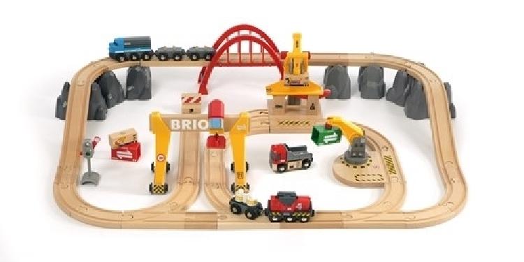 BRIO World Kolejka Drewniana do samodzielnego układania Cargo Deluxe