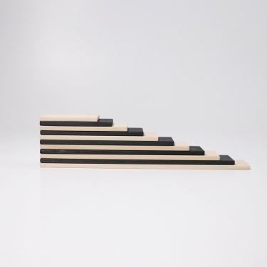 Płyty drewniane czarno-białe do budowania kolekcja naturalna 0+ monochromatyczne Grimm's
