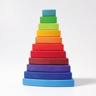 Wieża trójkątna 1+, tęczowa, Grimm's