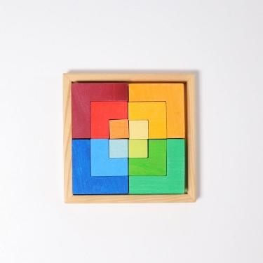 Kwadrat kreatywności 3+, tęczowy, Grimm's