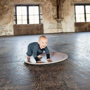 Deska do balansowania 360 Bamboo z filcem, Baby Mouse, Wobbel