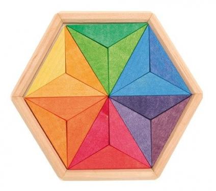Drewniane Puzzle do układania, Gwiazda 3+, Grimm's