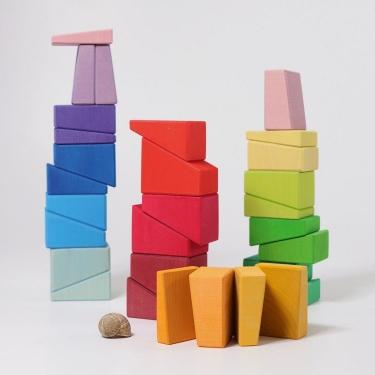 Zestaw budowlany, Ukośne Bloki 3+, Grimm's