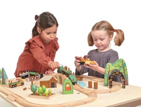 Drewniana kolejka - Podróż po lesie, Tender Leaf Toys
