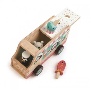 Drewniana lodziarnia, samochód, Tender Leaf Toys