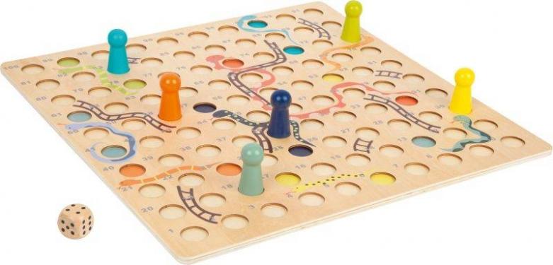 Węże i drabiny drewniana gra planszowa XL Small Foot
