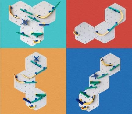 Kulodrom, edycja TORNADO,zestaw podwójny Marble Run, ORIBEL