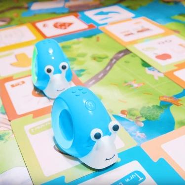 Robobloq Qobo niebieski ślimak - robot edukacyjny