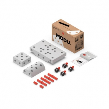 MODU Curiosity kit 4in1 - Kreatywne klocki rozwijające motorykę dużą, czerwony